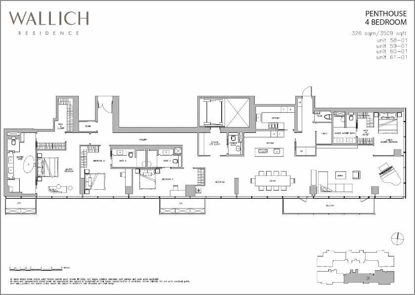 wallich residence penthouse floorplan