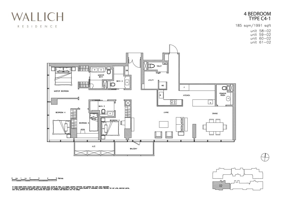 Wallich Residence Floor Plan