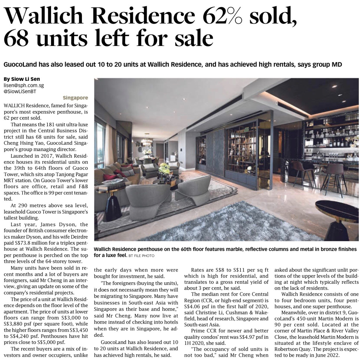 Wallich Residence News Article